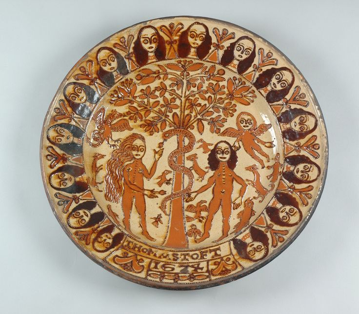 ... Adam & Eve Charger Slipware signed and dated by Thomas Toft 1674 | by Leeds Museums