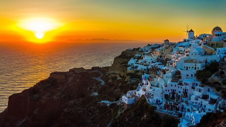 Sunset Santorini Island Greece Photo Picture Image Is A Amazing HD Wallpapers Desktop