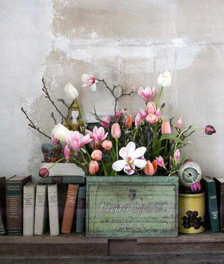 La vie en Rose ♥: Decor, Interior, Ideas, Books, Color, Beautiful, Grey, Things, Flowers