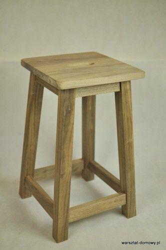 Stołek barowy z drewna orzechowego Shop/Kitchen Stool made of walnut. More on http://warsztat-domowy.pl/2014/02/stolek-barowy-z-drewna-orzechowego/