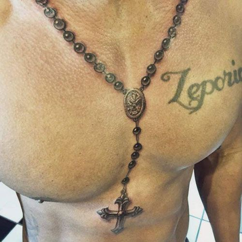 Rosary Christian Neck Tattoo #godtattoosformen