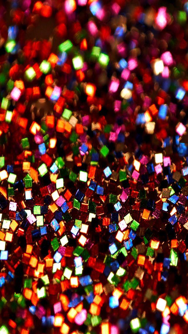 Colorful Glitter iPhone Wallpaper Color Glitter