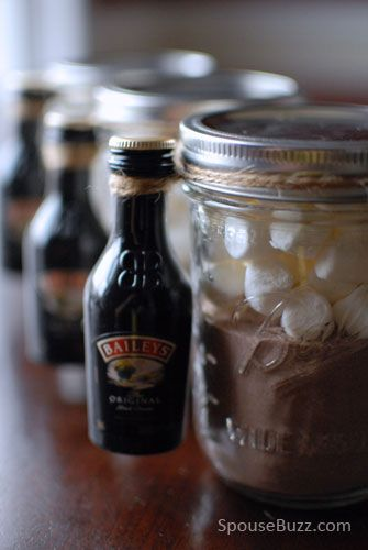 Make this yummy and fun 'drunk' hot chocolate kit with our handy tutorial.