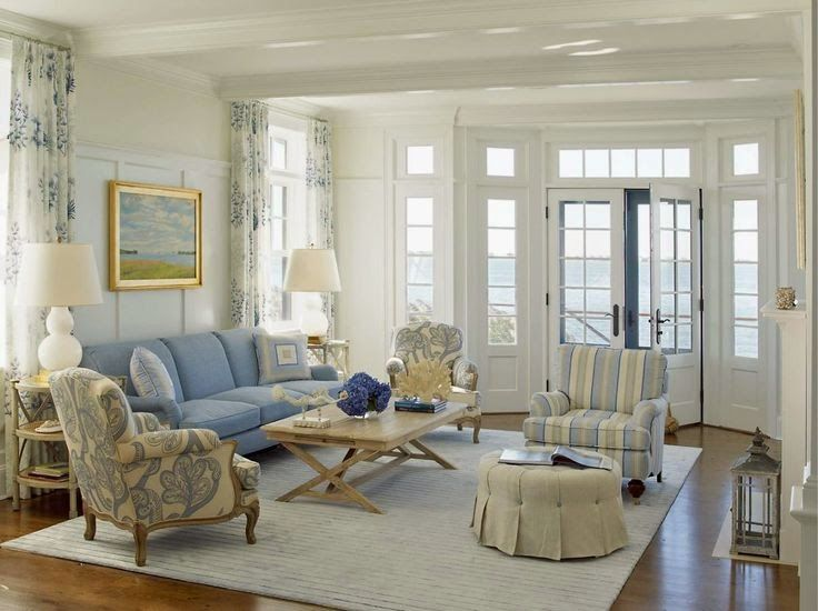 Nautical House On The Bay   Hamptons   Beach Style   Living Room   New York    Austin Patterson Disston Architects