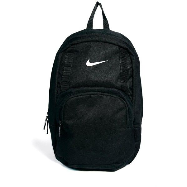 Nike Classic Sand Backpack ($25) ❤ liked on Polyvore featuring bags, backpacks, accessories, nike, black, zip top bag, knapsack bags, padded bag, backpacks bags and nike bag
