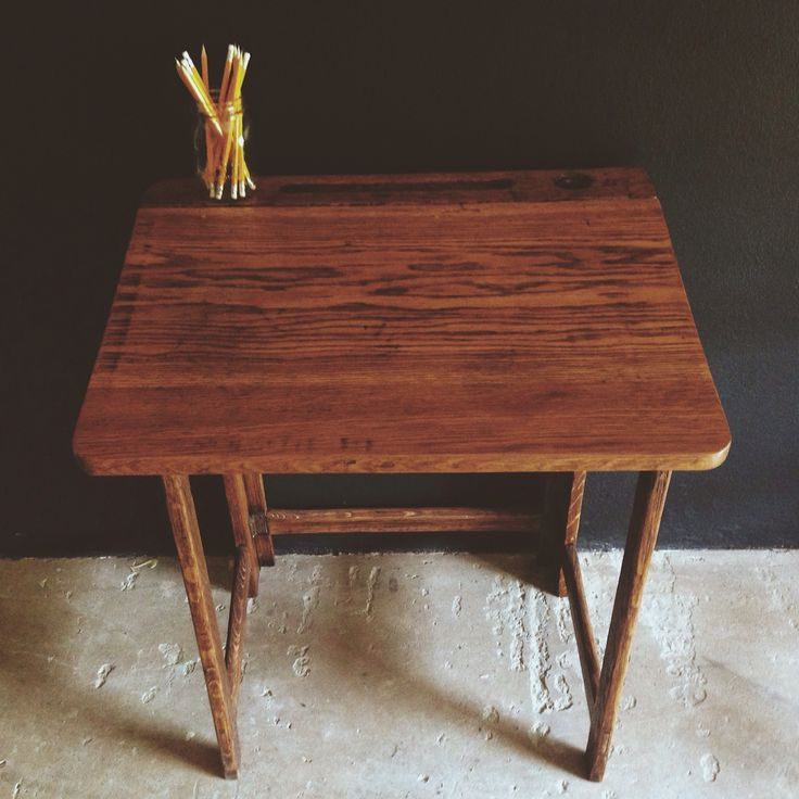 Vintage folding school desk. Rather rare and really rad. See freerangeboy on Facebook for purchasing info.