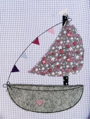 Stickmuster - Segelboot Doodle Stickdatei - ein Designerstück von feinliebshop bei DaWanda