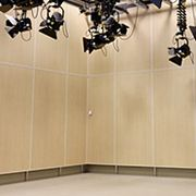 Wilsonart specified for a school music/video theater, simplicity at its best.