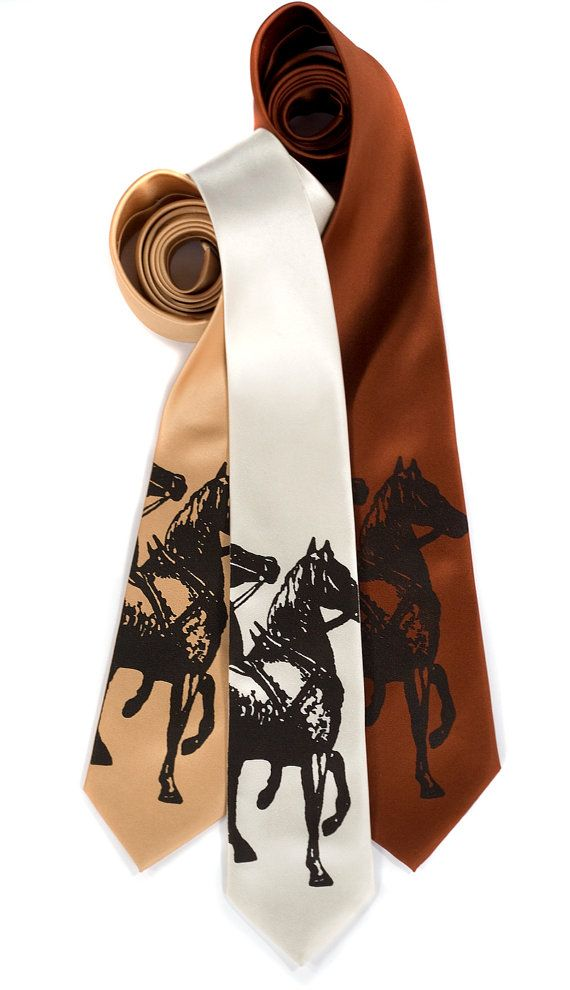 Year of the Horse necktie. Men's tie. Espresso brown by Cyberoptix, $30.00