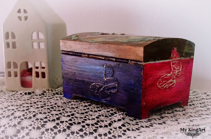 Lockable, Chest/Trinket Box 20cm X 14cm X 12,5cm
