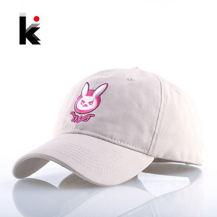 Anime DVA Rabbit Embroidery Baseball Cap Men Women Cotton Dad Hats Unisex Snapback Hip Hop Gorras Cappelli Da Uomo Bone Feminino