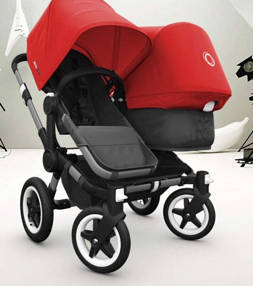 bugaboo donkey - what a great stroller option for accommodating a second kid! I like the side-by-side vs. tandem style