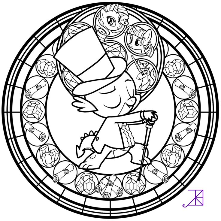 coloring pages of stained glass - photo#31