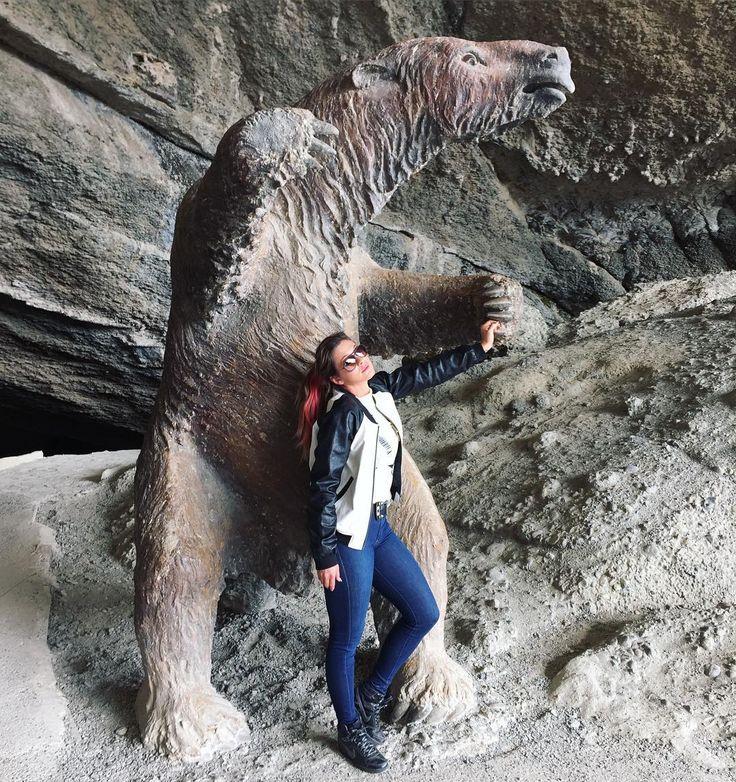 Na caverna do meu ancestral Milodon...tipo de bicho preguiça gigante extinto kkkkkkkk