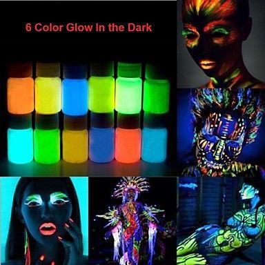 resplandor+Halloween+en+la+cara+oscura+de+neón&+pintura+corporal+-25ml+1+pieza+fluorescente+–+CLP+$+3.778