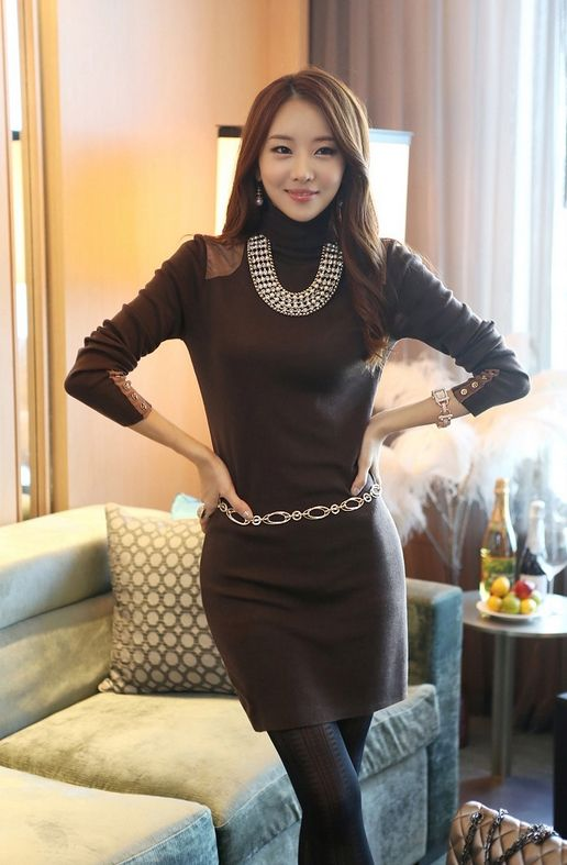 Korean Office Lady Dress http://en.thejamy.com/goods.php?id=147903