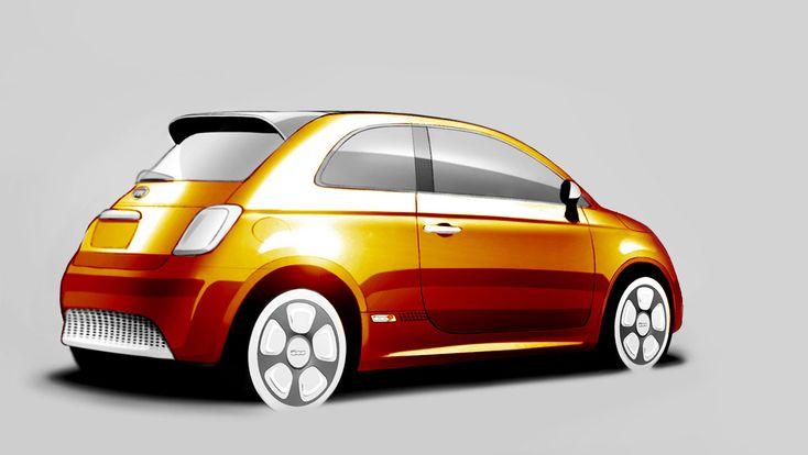 Fiat 500e Design Sketch