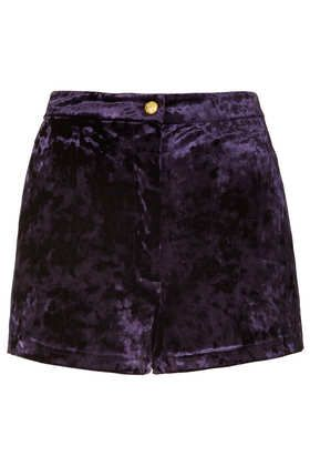 Midnight Crushed Velvet Shorts #DearTopshop