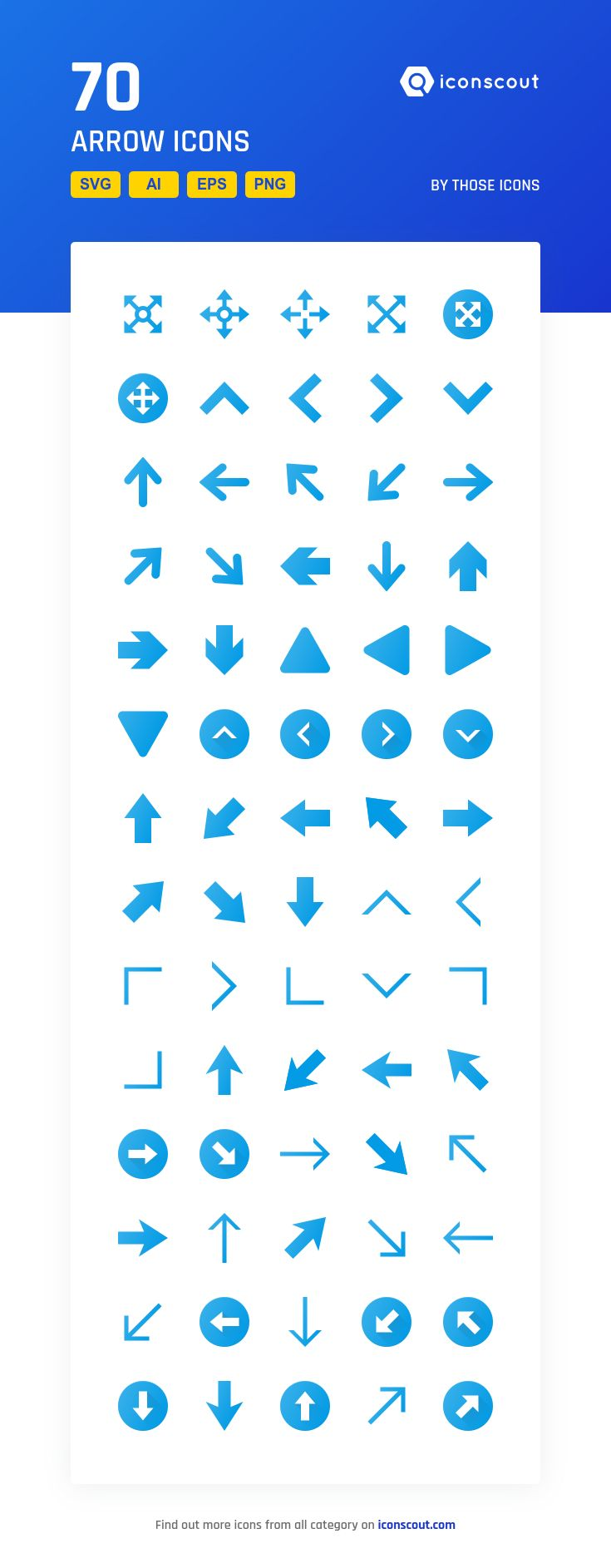 Arrow  Icon Pack - 70 Flat Icons