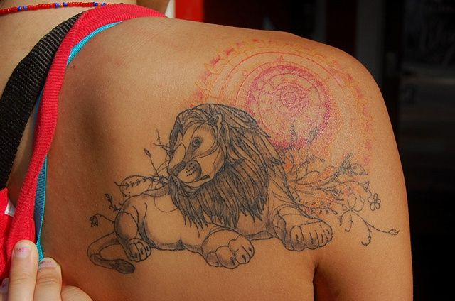 lion - from artwork by David Hale #tattoo #body_art: Tattoo'S Idea, Color Design, Tattoo'S Design, Color Tattoo'S, David Hale Tattoo'S, Lion King, Sun Tattoo'S, Lion Tattoo'S, Anchors Tattoo'S