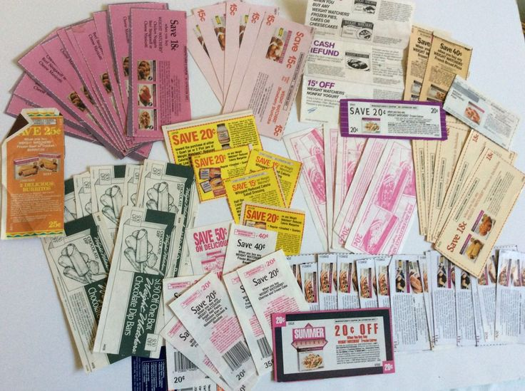 Vtg Huge Lot of 71 Weight Watchers Food Supermarket Coupons No Expiration Date | eBay
