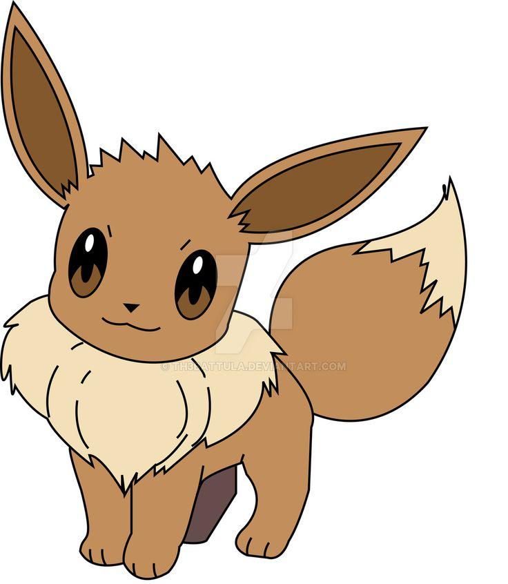 Practice Pokemon Vector 2 Eevee By Th3battula On Deviantart Pokemon Clipart Pinterest