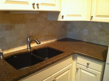 Granite Countertop and Natural stone backsplash - traditional - kitchen - st louis - G Remodeling