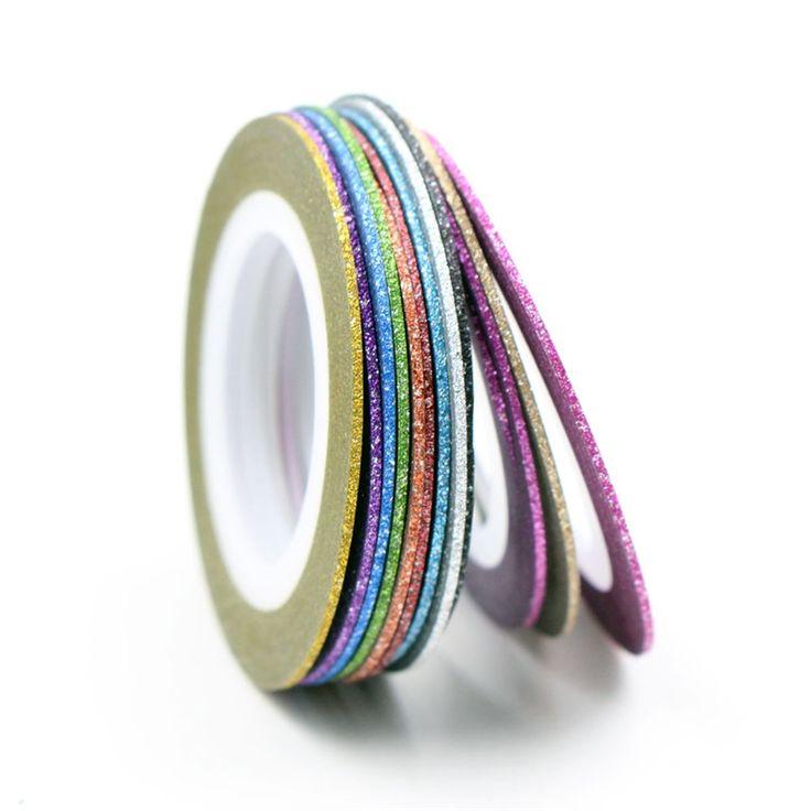 12 Kleuren Keuze Matte Kleur Rolls 1mm Striping Tape Lijn Ruwe Stijlen Nail Art Tips Decals Beauty Decoraties Nail accessoires