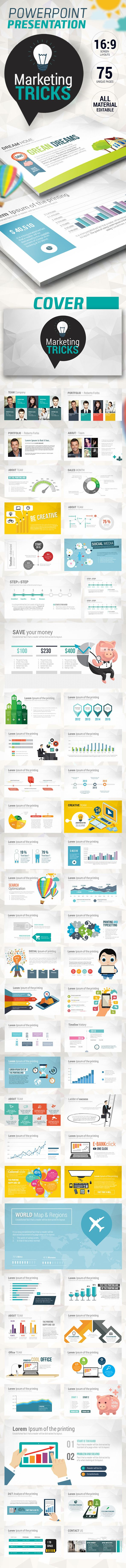 Fresh Marketing Tricks Presentation Template #powerpoint #powerpointtemplate Download: http://graphicriver.net/item/fresh-marketing-tricks-presentation/10440013?ref=ksioks