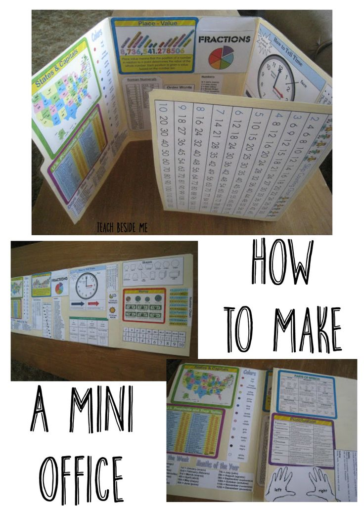 How to make a mini office for kids