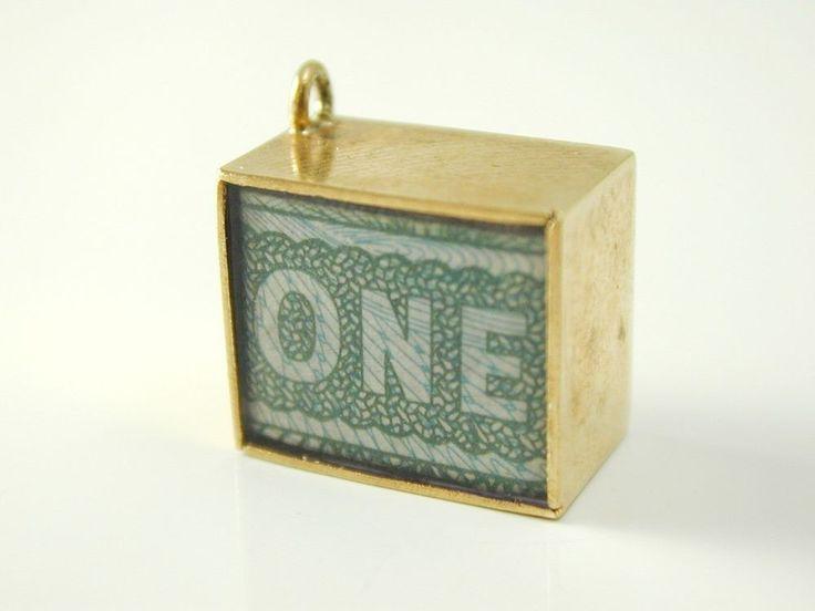 £1 note cham 9 carat gold hallmark 1967 2.64 grams 13 x 11 x 8 mms Vintage