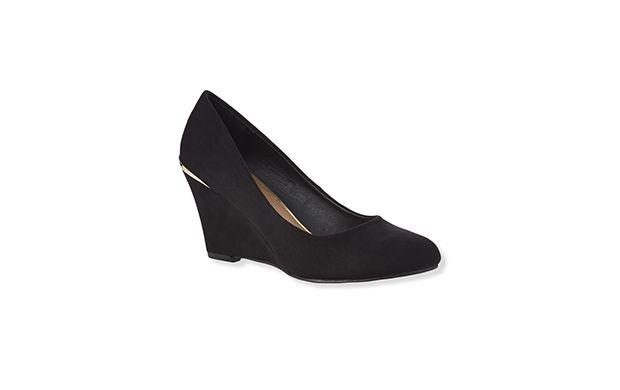 """Black Wedge Court Shoe. """"Fuse comfort and style and opt for these classic black wedges."""""""