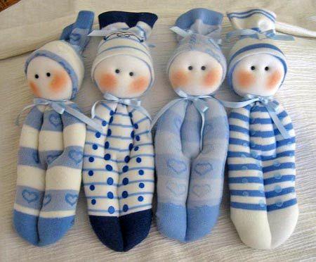 Как сделать куклы из носков своими руками