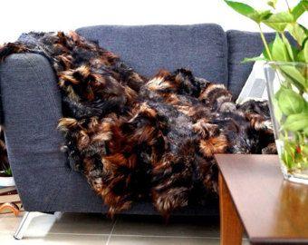 Real fur blanket!