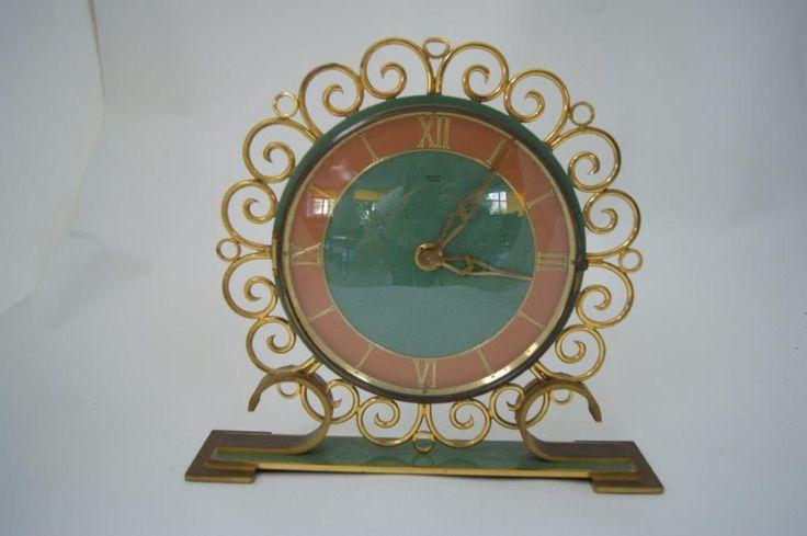 LANCEL Pendulette De Table En Bronze Et Mtal Haut 26