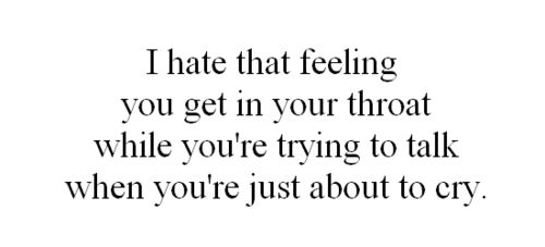 worst feeling in the world