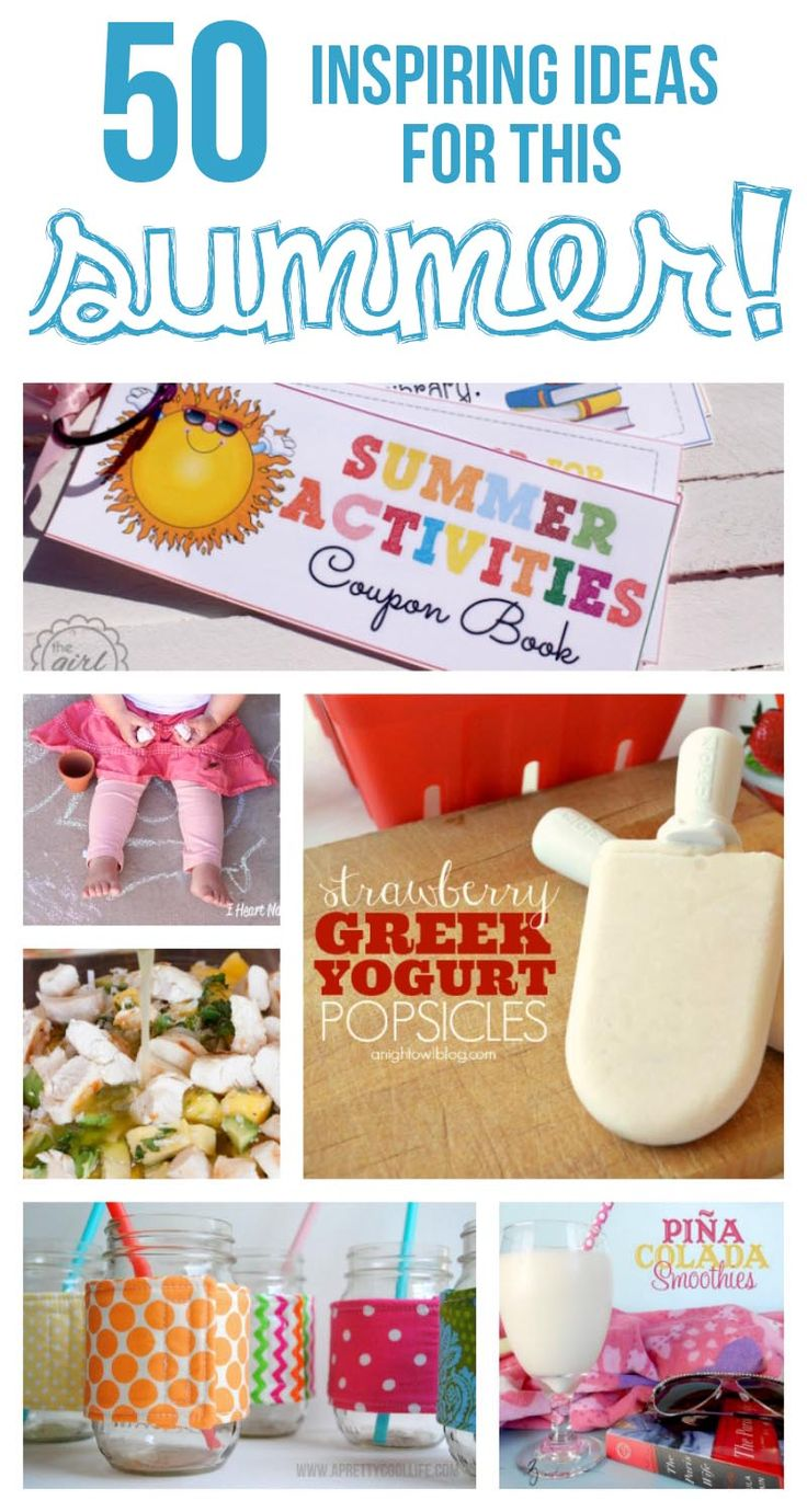 50 inspiring ideas for summer ...so many great crafts and recipes!
