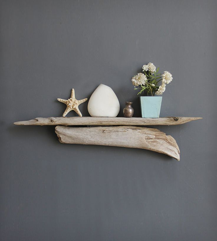 Large driftwood shelf driftwood shelf driftwood and shelves for Driftwood wall shelves