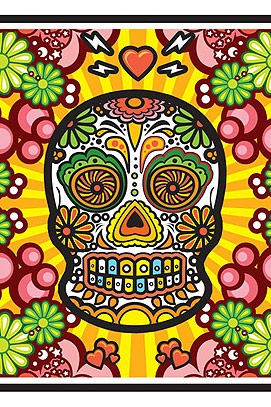 Day Of The Dead And More Drymounted Street Art Print Release News wallpaper
