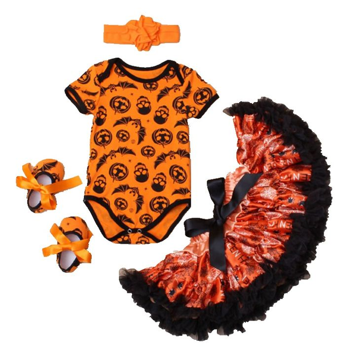 >> Click to Buy << Orange Pumpkin Lantern Bat Kids Halloween Costume For Baby Girl Clothes Bodysuit Tutu Skirt Shoes Headband Girls Clothing Sets #Affiliate