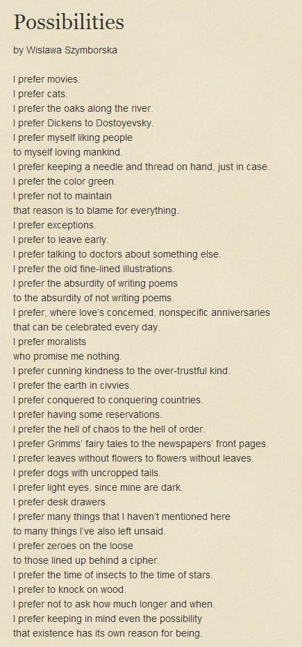 poetic talent doesn t operate in a vacuu by wislawa