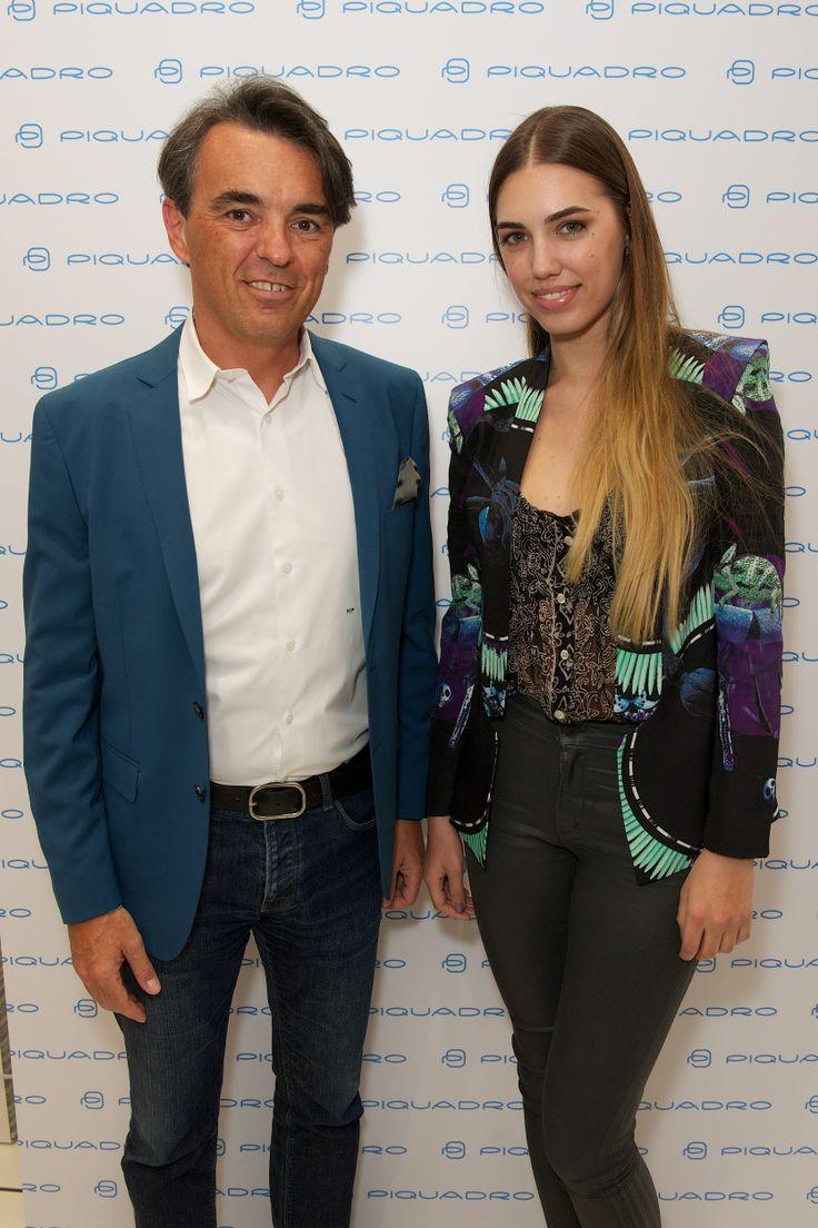 Marco Palmieri with Amber Le Bon