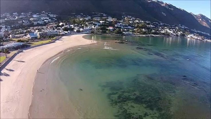 Drone video footage of Gordon's Bay main beach - Cape Town - South Africa. #GordonsBay #beach