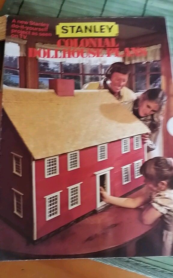Vintage stanley tools 1978 colonial doll house plan pattern dollhouse pinterest house for Stanley home design software free download