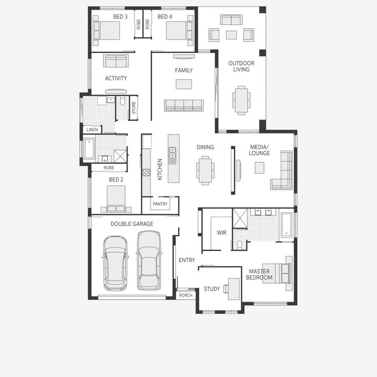 21 best Plan de maison plein pied images on Pinterest House - faire un plan de maison en 3d
