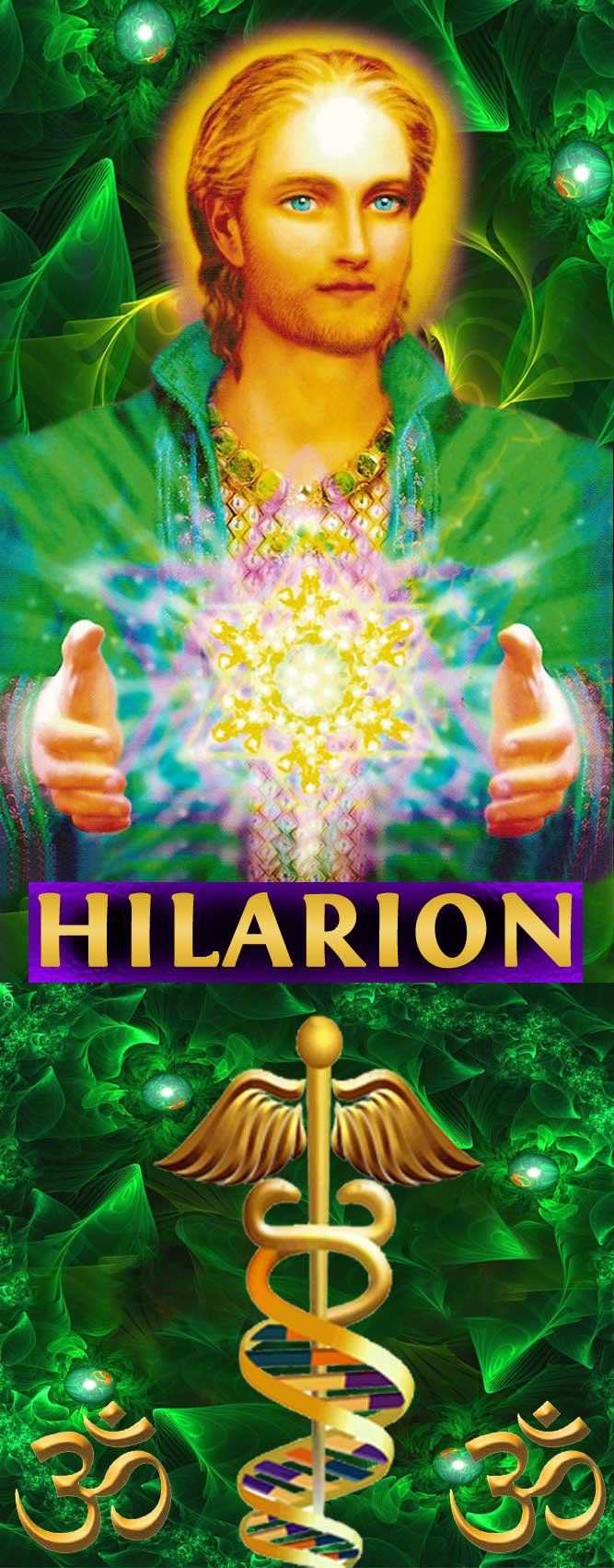 Ascended Master Hilarion  is Chohan of the Fifth Ray, the green ray and represents Healing, Science, Vision and Prosperity, may all my friends encounter this loving Master and receive Healing and Prosperity.