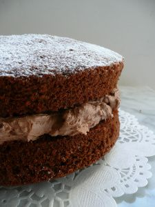 Chocolate Victoria Sponge Cake with Chocolate Buttercream Filling
