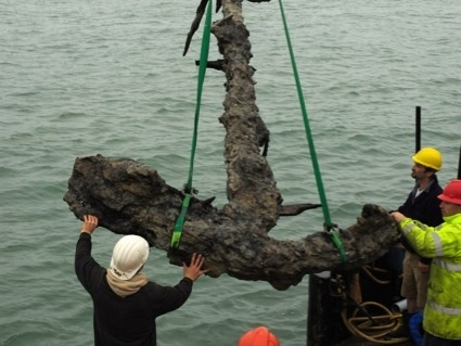 The 5 metre long anchor of the Mary Rose