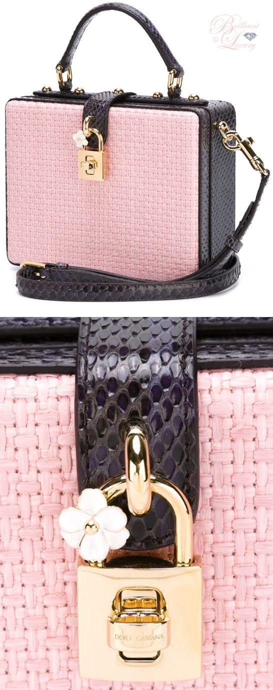 Brilliant Luxury by Emmy DE ♦ Dolce & Gabbana 'Dolce' Box Tote