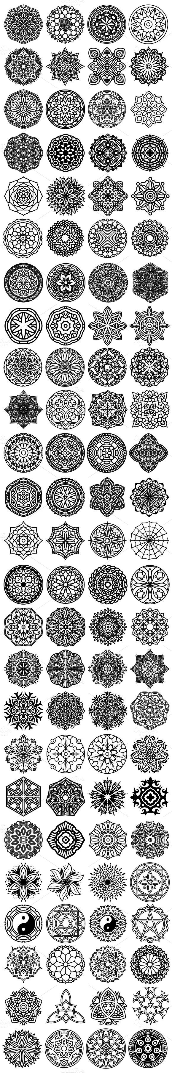 Tatto Ideas 2017 100 Vector Mandala Ornaments tortue de mer avec mandala 3 ¨me en partant d en haut  gauche